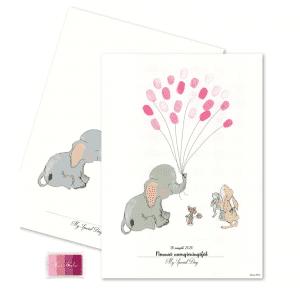 baby fingeraftryk pige - daabspynt - daabsartikler - barnedaab - mouse and pen - modernhousedk